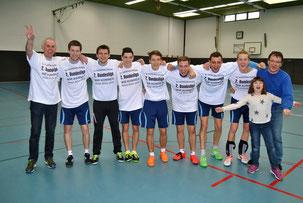 Die erfolgreichen Aufsteiger: Männer-Mannschaft Faustball des TV Hohenklingen