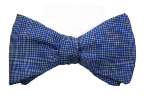 Herren Anzug Fliege hellblau - blau - weiß kariert zum selbstbinden - Schleife