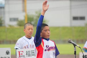 鍛治 亮佑君-川北町学童野球クラブ主将