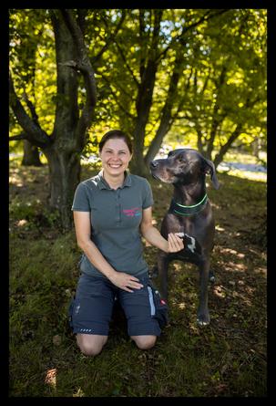 Sarah Kleinander und ihr Hund Cayleigh