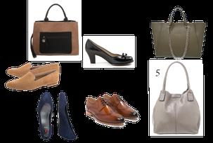 Schuhe und Taschen für Casual Business /Smart Business