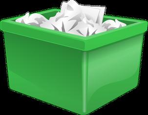 Zeichnung einer grünen Plastikbox