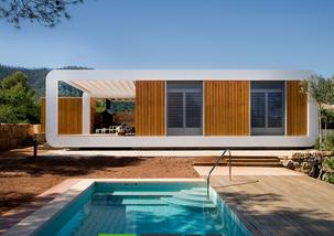 abitazione di tipo prefabbricato modulare realizzata con componenti leggeri