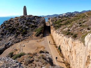Ruta por la Costa del Azahar entre Oropesa y Benicàsim en  Castellón, Comunidad Valenciana.