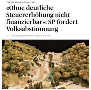 Solothurner Zeitung vom 19. März 2018