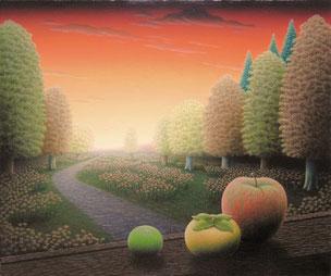 「秋の夕映え」油彩・キャンバス F8