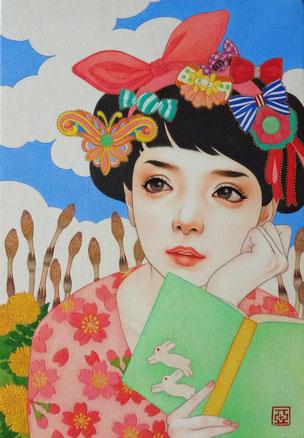 『風ひかる』 日本画 P3 ご予約済