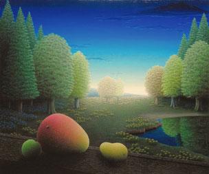 「涼景な夏」油彩・キャンバス F8