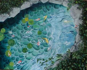 水舞曲 F6号 キャンバスに油絵具