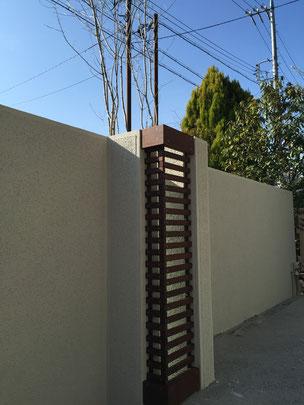 控え壁を利用して作ったオリジナルのランプシェード