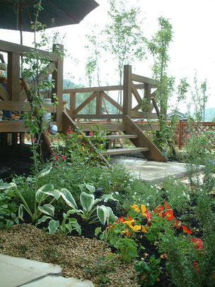 柴垣が修行時代に作った洋風の庭