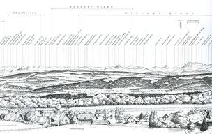 Ausschnitt des Panoramas von Erwin Wyss, Müllheim