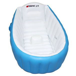 Inflatable tub for babies or infants who travel
