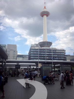 JR京都駅から西へ進む