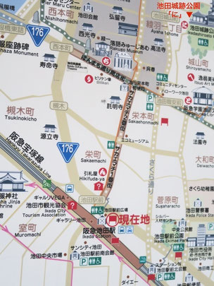 池田駅周辺の略地図