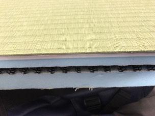 横浜市港南区の畳屋さん 内藤畳店 介護用ケアケア畳の畳床の断面