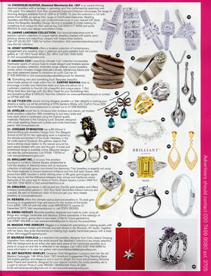 Emma Hedley Jewellery Brides Magazine Bespoke Platinum Engagement Rings Designed to order