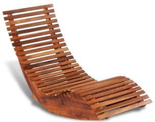 lettino +legno +benessere +oscillante +giardino