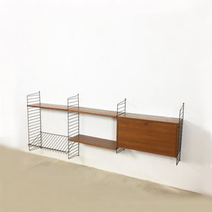 wall unit | ash wood - Nisse Strinning for STRING AB Sweden | 1960s yourhomeplus teak danish modern midenctury modern interior 1960s 1970s shelving storage wall system