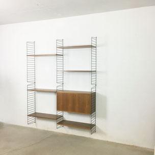 walnut wall unit - Nisse Strinning for String Design AB Sweden | 1960s