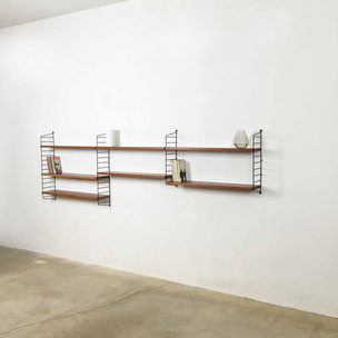 vintage string shelving system by nisse strinning | String Design AB | made in sweden