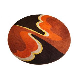 multicolor high pile rya rug - made by HOJER EKSPORT WILTON - 200x200cm Denmark | 1960s vintage midcentury modern interior 1stdibs 70s 60s design art mcm yourhomeplus yourhomeplus.de