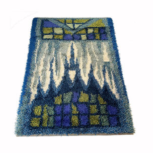 multicolor high pile rug - made by DESSO 200x300cm Netherlands | 1970s midcentury modern mcm interior design psychedelic rug carpet 1stdibs 70s 60s 1970s 1960s  yourhomeplus yourhomeplus.de rya taepper ege