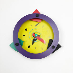 "Memphis Wall Clock ""Paradise"" Shohei Mihara x Wakita, Japan 