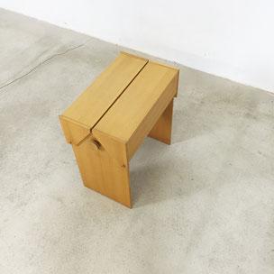 nos minimalistic ash wood storgae box | sewing box  Germany | 1960s