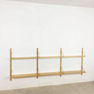 ash wall unit - Nisse Strinning for String Design AB Sweden | 1960s