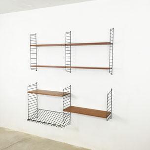 wall unit | teak wood - Nisse Strinning for STRING AB  Sweden | 1960s