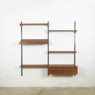 teak wall unit - kai kristiansen for feldballes Mobelfabrik, denmark 1960s