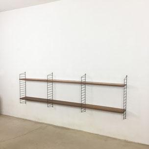 teak wall unit yourhomeplus - Nisse Strinning for String Design AB Sweden | 1960s