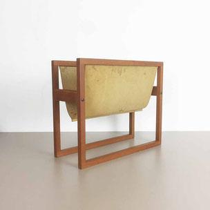 teak magazine rack - Kai Kristiansen for Sika Mobler Danmark | 1960s midcentury modern danish interior vintage yourhomeplus