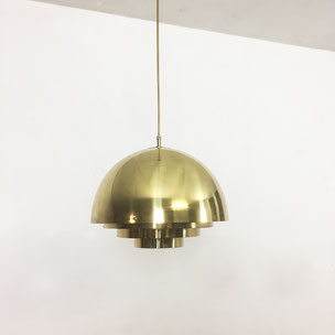 brass hanging lamp - Vereinigte Werkstätten München Germany | 1970s