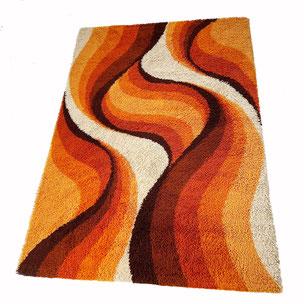multicolor EGE TAEPPER Deluxe Denmark  | 1970s  pile rug - made by DESSO 200x300cm Netherlands | 1970s midcentury modern mcm interior design psychedelic rug carpet 1stdibs 70s 60s 1970s 1960s  yourhomeplus yourhomeplus.de