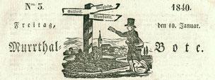 Murrthalbote. Zeitung und Amtsblatt für Backnang und Umgebung. 1838-1900.