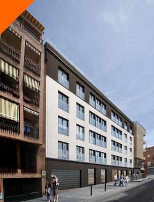 Render 3D exterior para edificios residenciales. Proyecto en Travesía Santo Domingo.