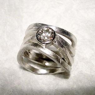 diamant ring weissgold