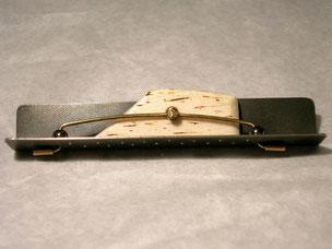 brosche, silber, gold und knochen,- spilla, argento, oro e osso