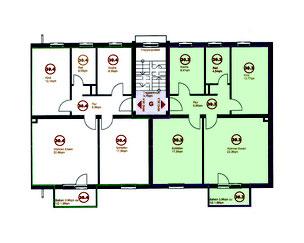 Stegaurach OT Höfen ETW zu verkaufen, 3-Zi.-Eigentumswohnung mit schönem Garten