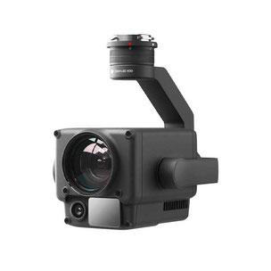 Zenmuse H20 es una cámara para dron Matrice 300 RTK con zoom industrial, cámara visual y telémetro útil para inspecciones de torres de comunicación etc