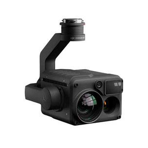Zenmuse H20T es una cámara térmica, cámara zoom industrial, telémetro y visula de 20 mp útil para seguridad pública y otras inspecciones industriales