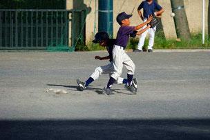 SEG君、二塁手としてがんばりました。
