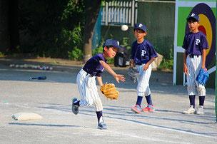 一塁手をがんばった3人