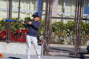 俺の打球を捕った奴、バーン!