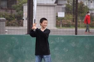 少し身長が伸びたTAKくん。 相変わらず爽やかな笑顔でした。 名ショート、名一番打者でした。 ちなみにサッカーも上手いです。
