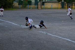 Kくん、良い走塁でホームインしました。