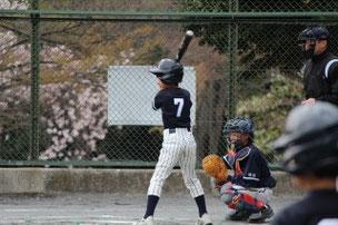 三塁を守ったAくん。