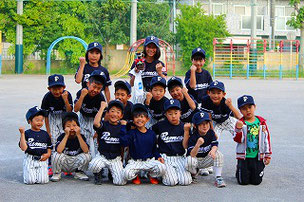 """""""笑顔""""が多いチームです。様々な小学校から""""楽しく野球がやりたいから""""と通ってくれています。アットホームなチームです。"""